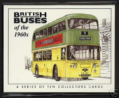 BRITISH BUSES of the 1960s -  Original Collectors Cards