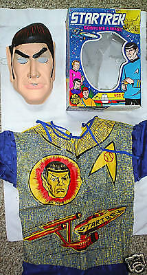 STAR TREK MR. SPOCK HALLOWEEN COSTUME 1975 Ben Cooper