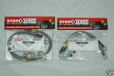 StopTech Stainless Steel Brake Lines F/R BMW E46 M3 01-06