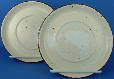 Midwinter England Stonehenge 2 Saucers Only Brown Beige