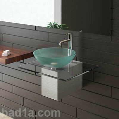 italienischer design glas waschtisch g ste wc wenge neu. Black Bedroom Furniture Sets. Home Design Ideas