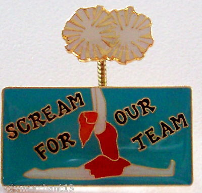 """SCREAM FOR OUR TEAM"" Enamel Lapel Pins/Lot of 25/NEW!"