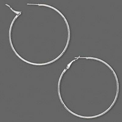 316L Surgical Stainless Steel Silver Hypo Allergenic 60mm Large Hoop Earrings