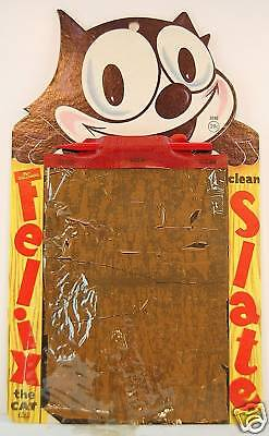 FELIX THE CAT 'DIE CUT' MAGIC SLATE w PENCIL, 1953
