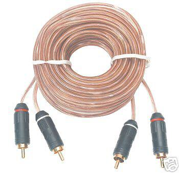 Dual RCA Audio Cables 12-ft Gold Plated Connectors