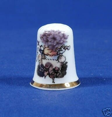 Sing A Song of Sixpence Bone China Thimble B/23
