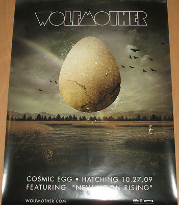 WOLFMOTHER Cosmic Egg, original promotional poster, 2009, 18x24, EX!