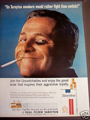 1963 TAREYTON Cigarette I'd rather fight than switch Ad