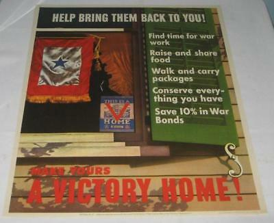 Rare World War Ii Bring Them Back Victory Home Poster