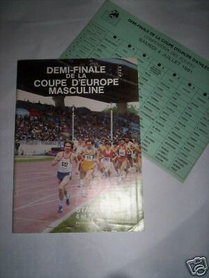 Programme 1/2 Finale Coupe Europe Stadium Nord Juil 81