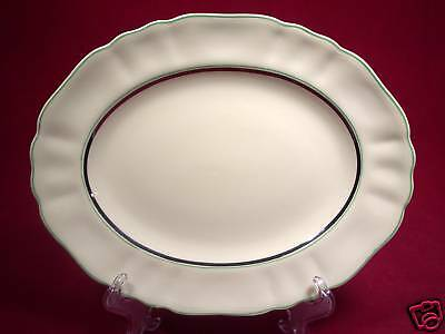 J & G Meakin England Sunshine Serving Platter Green Trm