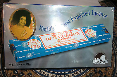 Nag Champa Incense - 12  Packs - 15gm  Freshest In UK