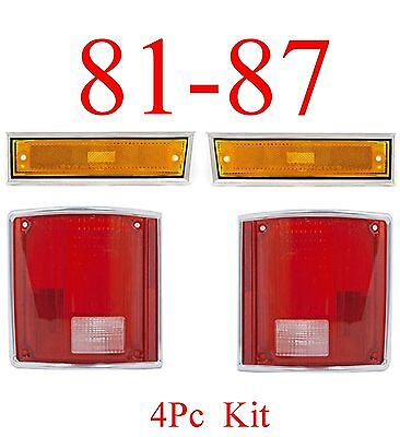 81 85 86 87 91 CHEVY GMC TRUCK Front & Tail Light 4PC