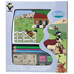 Kit Tampons Et Coloriage Aladine Equitation Cheval Neuf