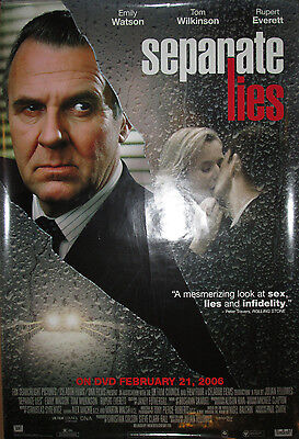 SEPARATE LIES - DVD release promotional poster, 2005, 27x40, VG+, Emily Watson