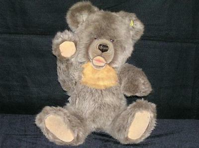 "Steiff Zotty/Zottie 19"" Fuzzy Teddy Bear w/Growler Brass Button c. 1980's"