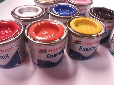 10 Airfix Humbrol Model paint tinlets.Any Colours You Choose