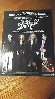 PROMO AD Gibson Guitar The Darkness 1 way ticket hell
