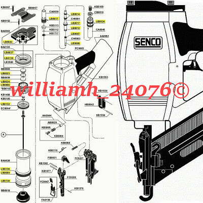 Senco Framing Nailer SN70 O ring Kit