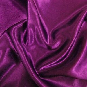 "10 Yards Shiny Bridal Satin Fabric 60"" - Purple"
