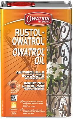 ANTIROUILLE INCOLORE 5L RUSTOL OWATROL direct rouille