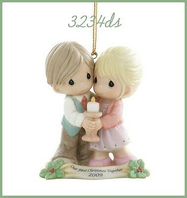 2009 Precious Moments OUR FIRST CHRISTMAS TOGETHER Porcelain Ornament #910004