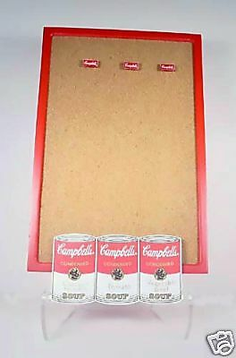 Campbells Soup Wooden 3D Cork Memo Message Board Including 3 Logo Tacks NIB NICE