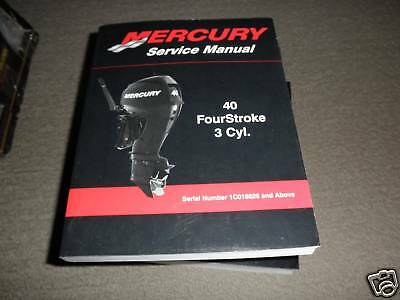 2009 Mercury Service Manual 40 Four Stroke 3Cyl