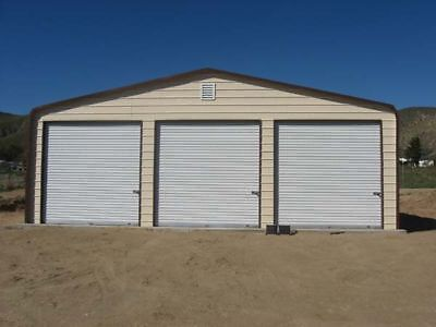 Steel garage buildings mongo model for Rv garage packages