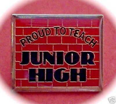 """Proud to Teach Junior High"" Lapel Pins, Lot of 25!/NIB"