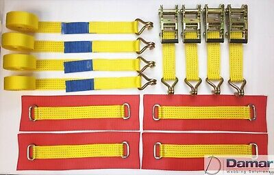 4 NEW Trailer Recovery Transporter Alloy Wheel Straps Y