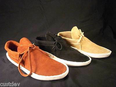 Mens Rust,Sand,Black Navajo Thick Sole Lowcut Moccasins