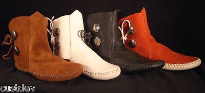 "New Taos ""indian Maid"" Womens Moccasins Leather 3000W"