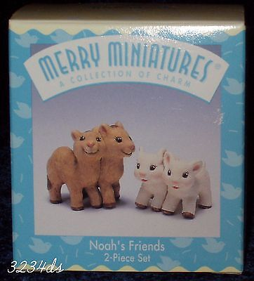 Hallmark Story Time 1997 NOAH'S FRIENDS Merry Miniatures Camels and Lambs NEW