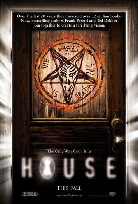 HOUSE MOVIE POSTER 2 Sided ORIGINAL Advance 27x40