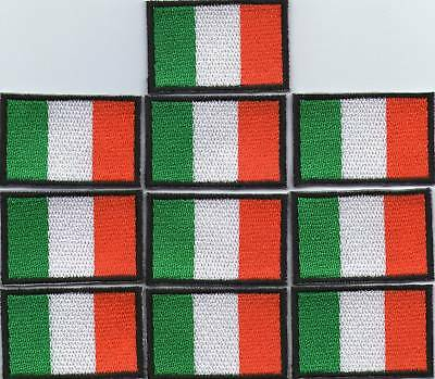 Lot 10 Ecusson Patche Thermocollant Drapeau Irlande Dimensions 4,5 X 3 Cm