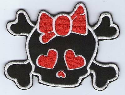 Ecusson Patche  Thermocollant Patch Girl Red Skull