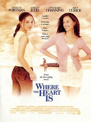 WHERE THE HEART IS MOVIE POSTER 2 Sided ORIGINAL 27x40