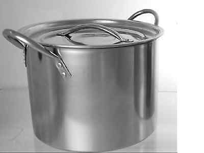 NEW DEEP STAINLESS STEEL STOCK POT .. 21 cm , 6 Litres