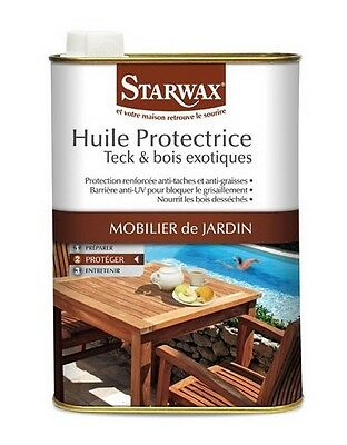 Huile protectrice pour teck - bois exotiques 1L STARWAX 193