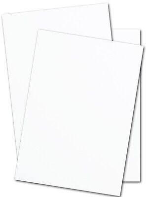 250 sheets 8.5 x 11 (110 lb) white card stock paper