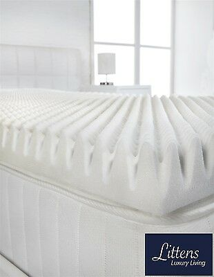 "2"" Double Bed Size Memory Foam Mattress Topper (Profile / Egg Shell) Visco, 50mm"