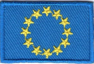 écusson ECUSSON PATCHE THERMOCOLLANT DRAPEAU EUROPE DIM. 4,5 X 3 CM