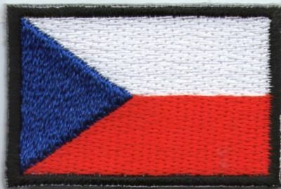écusson ECUSSON PATCHE PATCH THERMOCOLLANT DRAPEAU REPUBLIQUE TCHEQUE DIM. 4,5X3