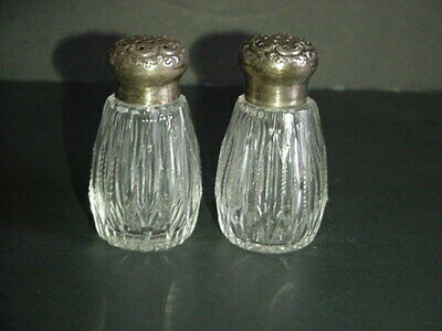 Salt & Pepper Shakers Antique Sterling Tops