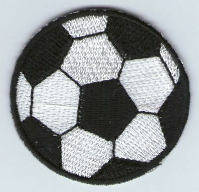 écusson ECUSSON PATCHE THERMOCOLLANT BALLON FOOT FOOTBALL DIAMETRE 4,5 CM