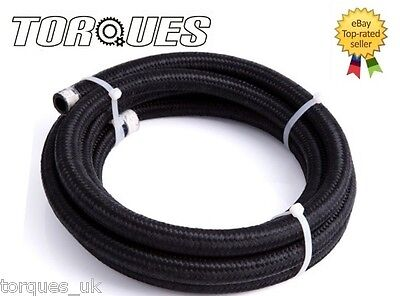 AN -8 (AN8 AN08) Nylon Braided Stealth Black Hose 3m