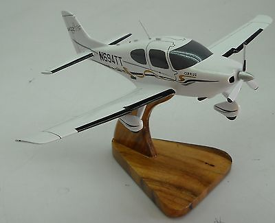 sr 22 gts cirrus sr22 private airplane dried wood model small new