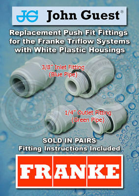 2 Franke Triflow Filter Housing - NEW Push Fit Fittings