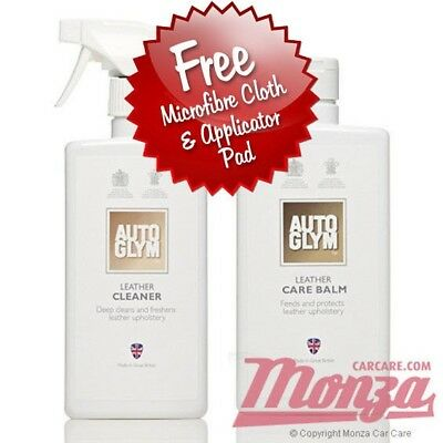 Autoglym Complete Car / Motorbike Leather Care Kit **PLUS FREE APPLICATION KIT**